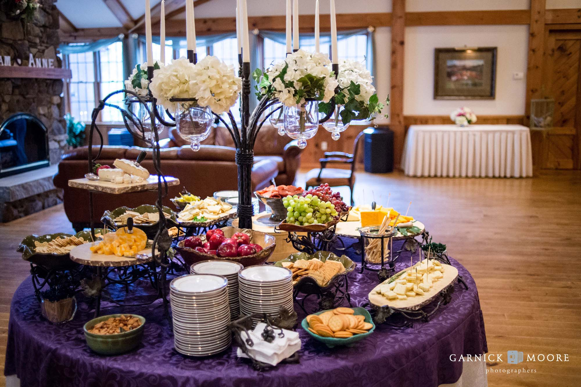 indoor zukas wedding reception